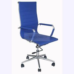 NEW STYLISH LUXURY DESIGNER HIGH QUALITY COMPUTER DESK STUDY OFFICE CHAIR  BLUE