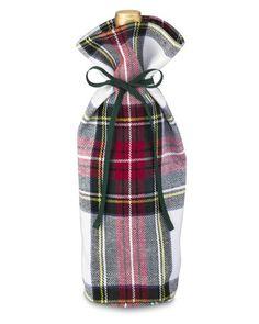 Classic Stewart Tartan Wine Bottle Tote