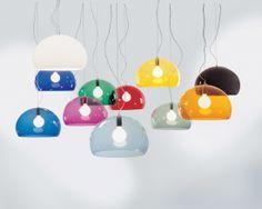 The FL/Y Suspension Lamp designed by Ferruccio Laviani for Kartell.