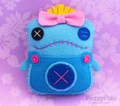 Stitched PP Handmade Plush Scrump Lilo & Stitch by PozzyPals, $26.95