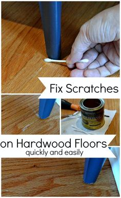 Quick and easy fix for small scratches on hardwood floors. chatfieldcourt.com
