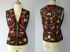 Vintage Traditional Embroidered Ethnic Vest // by COCOVINTAGES, $78.00