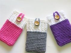 ♥♥♥♥♥ Mobile Phone Cozy, Can be Made for any Mobile - Media - Crochet Me - so cute and really simple! ♥♥♥♥♥