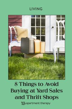 Here are eight things to avoid buying secondhand — and what you should prioritize instead. Apartment Ideas, Apartment Therapy, Yard Jenga, Electronics For You, Play Yard, Plastic Items, Prioritize, Yard Sale, Small Appliances