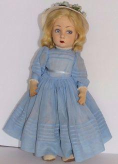"""Vintage 19"""" Lenci/ Lenci Type Doll Felt"""