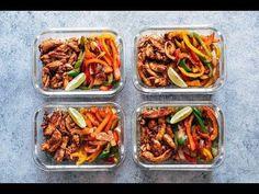 Chicken Fajita Meal Prep Lunch Bowls + Cilantro Lime Quinoa