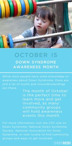 Help spread the news that October is Down Syndrome Awareness Month! Get involved!!