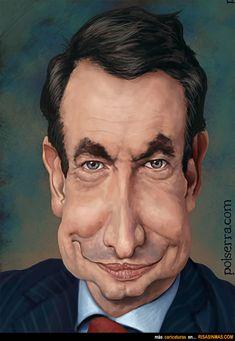 Caricatura de Zapatero. ~ Ʀεƥɪииεð вƴ╭•⊰✿ © Ʀσxʌиʌ Ƭʌиʌ ✿⊱•╮