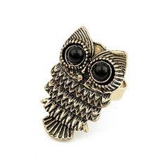 Retro Style Cute Owl Fashion Ring