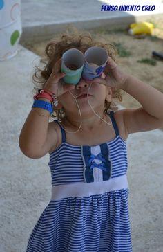 penso+invento+creo: Giochi per bambini da 0 a 3 anni: Binocolo con i rotoli vuoti della carta igienica