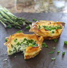 Eclectic Recipes » Individual Springtime Fillo Quiches