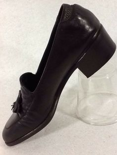 bcb56c7b5 Cole Haan Womens 4B Size 4 Pumps Mules Shoes Brown Heels Tassel Leather  Italy #ColeHaan