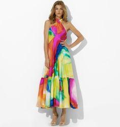 RL Watercolor Maxi Dress