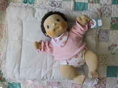 I fell in love with the Rubens Barn dolls when one of my favorite toy companies, Magic Cabin, debuted them in their catalogue. Designed in Sweden, the Rubens Barn doll is available in six different characters (boys, girls and varied skin tones), each with a weighted, padded bottom that feels just like a real baby. Rubens Barn dolls are