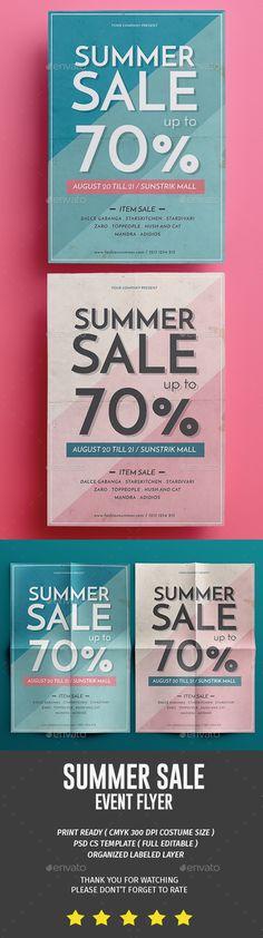 Summer Sale Flyer Summer sale, Flyer template and Summer - for rent flyer template