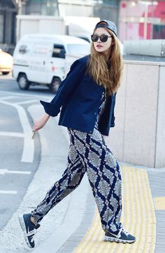 KOREAN MODEL • Street style: Choi A Ra shot by Baek Seung Won at...