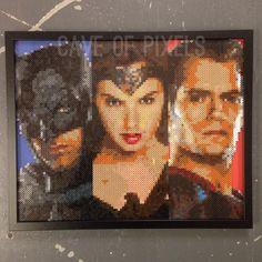 Batman V Superman pixel bead art