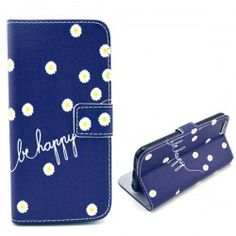 iPhone 6 Plus (5.5 inch) Be Happy Flip Cover, hoesje, case + Card clots
