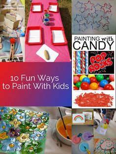 Housewife Eclectic: 10 Fun Ways to Paint With Kids and Project Link-Up