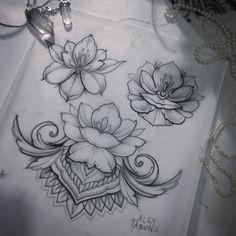 Stunning black and white tattoo work