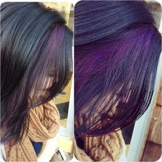 #hair #purplehair #highlights. I would do something like this