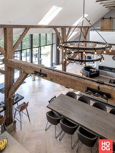 Transformation of a monumental farm in Zwolle - Hoog ■ Exclusive living . Transformation of a monumental farm in Zwolle - Hoog ■ Exclusive living and garden Elegant Small Modern Kitchen Ideas, # Idea.