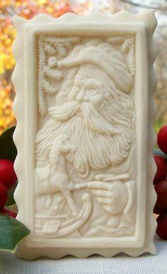 #1708 2013 TSB Santa Springerle Cookie or Marzipan Mold  #TheSpringerleBaker
