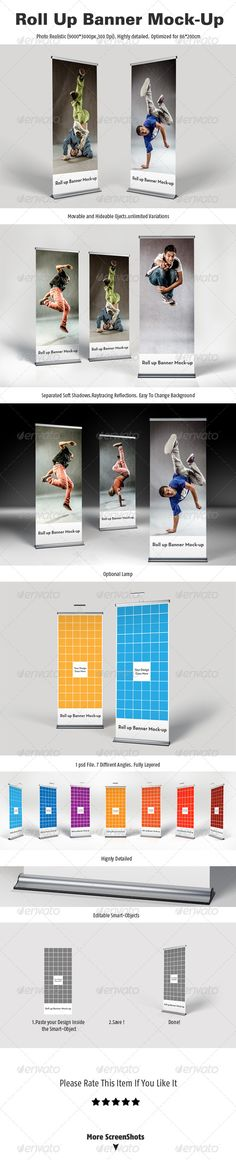 Roll Up Banner Mock-Up Download here: https://graphicriver.net/item/roll-up-banner-mockup/4765696?ref=KlitVogli