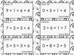 Common Core Connection : FREE True of False Equations