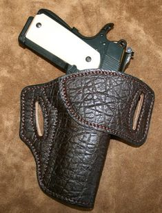 Full elephant leather SST holster from Tucker & Byrd