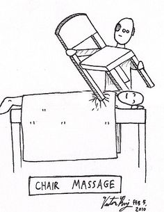 If this is your idea of Chair #Massage - think again! Book your session today; your neck and shoulders will thank you for it! http://bit.ly/nmbooking