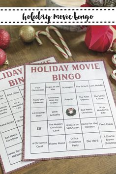 Christmas will be more fun with this FREE printable Christmas Party Game from Everyday Party Magazine #ChristmasPartyGames #ChristmasMovies #HolidayBingo