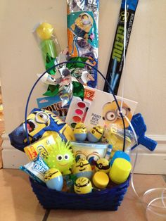 Minion easter basket simple cute can be for 123 year olds 15 diy easter gift basket ideas for kids to make negle Gallery