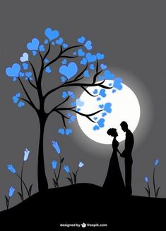 Love by the Moon Lite! Couple Drawings, Love Drawings, Art Drawings, Air Brush Painting, Acrylic Painting Canvas, Free Wedding Templates, Alien Drawings, Best Photo Background, Cute Couple Art