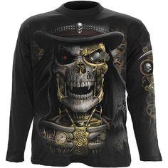 Men/'s shut up /& ride WINGED SKULL BIKER RIDER Imprimé Noir T-shirt à manches courtes