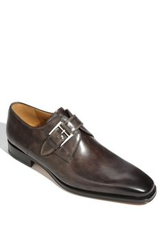 Magnanni 'Marco' Monk Strap Loafer (Men), An antique-finish buckle closure details a stately leather monk strap loafer finished with a plain toe. Me Too Shoes, Men's Shoes, Shoe Boots, Dress Shoes, Derby, Fashion Shoes, Mens Fashion, Monk Strap Shoes, Suit Up