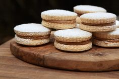 Argentine Alfajores are typically dipped in chocalte