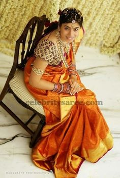 Bride in Thread Work Blouse | Saree Blouse Patterns: