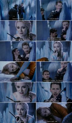 """""""You know where."""" - David, """"Anna, you knew her? """" - Elsa - 4 * 2 """"White Out"""""""