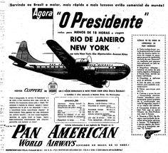 O avião da Boeing tinha 11,5 metros de altura, 85 metros de comprimento, era movido a hélices de quatro lâminas e tinha capacidade para 75 passageiros e oito toneladas de carga. Voava a 512 quilômetros por hora, a uma altitude de 4.500 a 7.500 metros de altura. Publicado dia 6 de julho de 1950.  http://blogs.estadao.com.br/reclames-do-estadao/2010/09/14/o-presidente/
