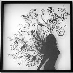 My Lovely Lady.    At first glance this looks like a drawing but it's actually cut out of black paper - absolutely amazing!