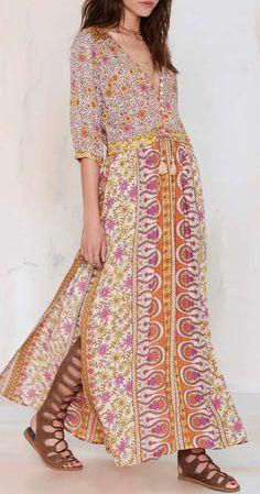Spell Boho Blossom Maxi Dress