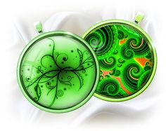 Green fantasy - Digital bottle caps images - 1'' circles for Jewelry Making, Digital Collage Sheets, BUY 2 GET 1 FREE