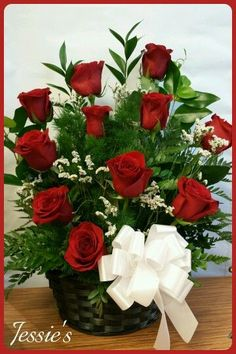 Valentine Flower Arrangements, Funeral Flower Arrangements, Church Flower Arrangements, Valentines Flowers, Beautiful Flower Arrangements, Silk Flower Arrangements, Funeral Flowers, Flower Vases, Beautiful Rose Flowers
