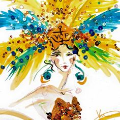 Illustration for Veuve Clicquot. #VCCarnaval.