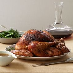 Roast Turkey with Shallot Butter and Thyme Gravy | Food & Wine