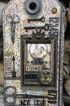 Mixed media art created by Kaz Hall featured on Two Friends' Favorite Blog Posts (Marjie Kemper)