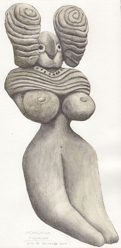 #Merhgargh #FertilityFigure painted by #NikitaCoulombe