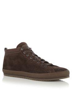 Gave BOSS Sneaker Bakero van suède (Bruin) Sneakers van het merk BOSS voor Heren . Uitgevoerd in Meerdere kleuren gemaakt van Suede.