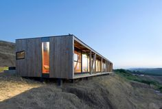 WMR Arquitectos Photo 12 of 37 in Surf Shacks by Chris Deam Bungalow, Prefab Buildings, Casas Containers, Surf Shack, Architect House, Prefab Homes, House In The Woods, Modern House Design, Modern Architecture
